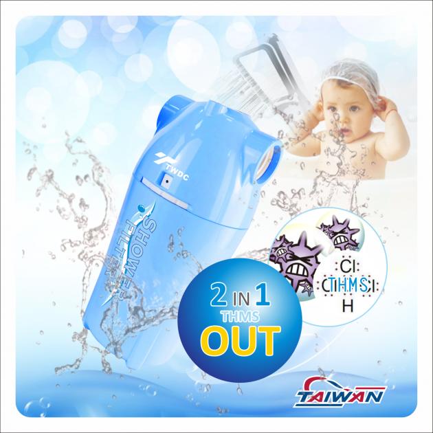 除氯活膚快拆式沐浴過濾器BC款(水藍) 1