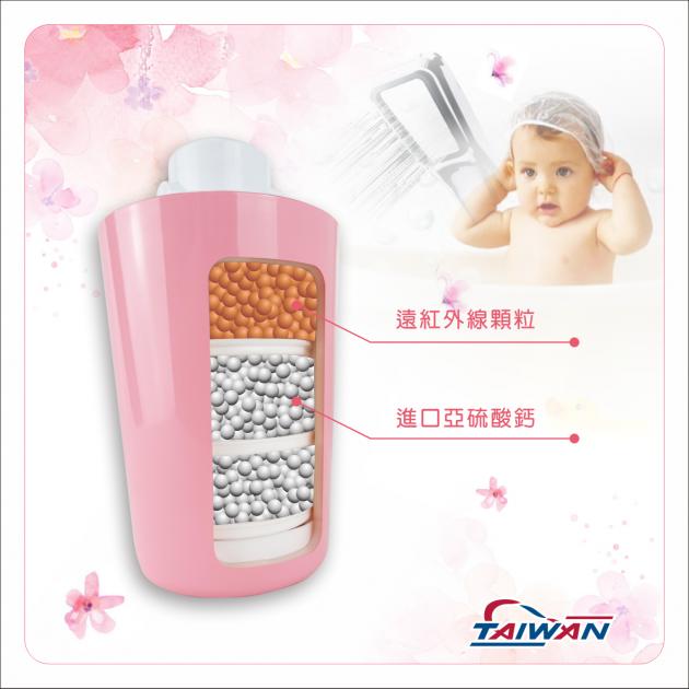 除氯活膚快拆式沐浴過濾器BC款(粉紅) 4