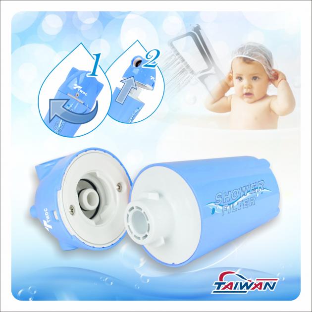 除氯活膚快拆式沐浴過濾器BC款(水藍) 3