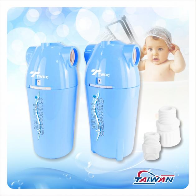 除氯活膚快拆式沐浴過濾器BC款(水藍) 2